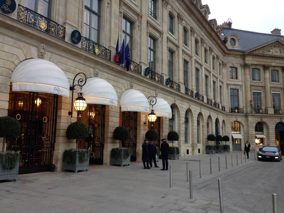 Outside the Ritz Paris - main entrance