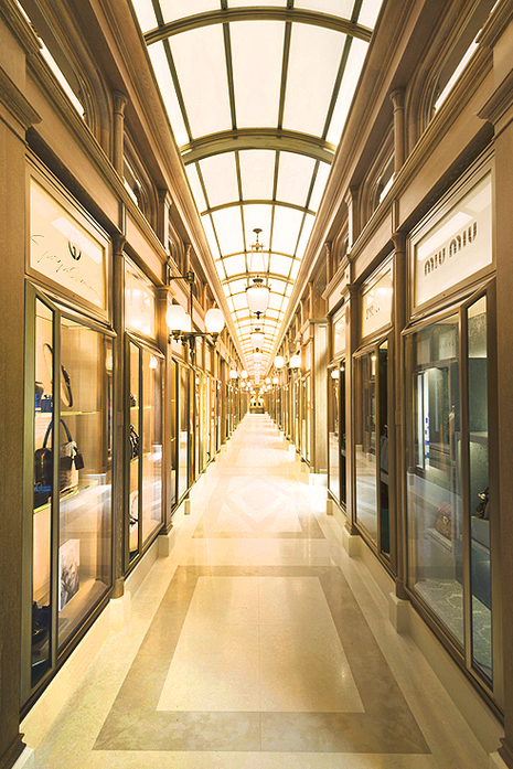 The shopping gallery at The Ritz, Paris.