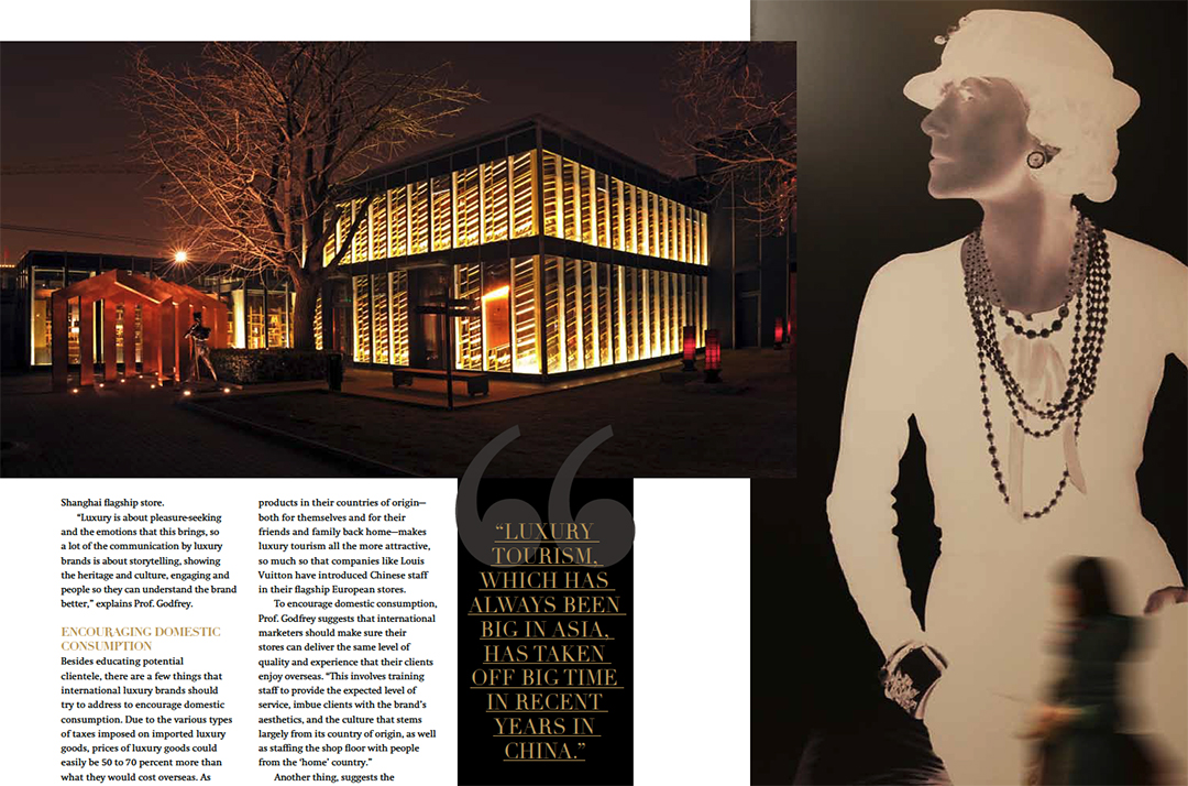 Left: Johnnie Walker House in Shanghai. Right: Chanel's Cultural Exhibition in China