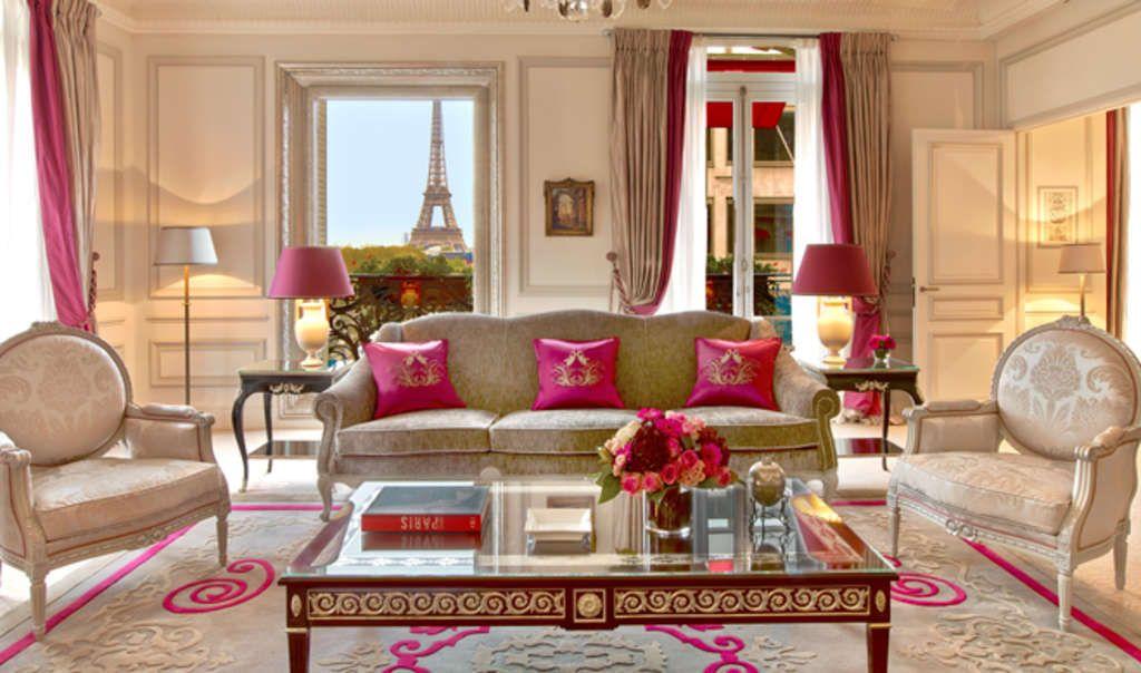 Suite at Plaza Athénée, Paris.
