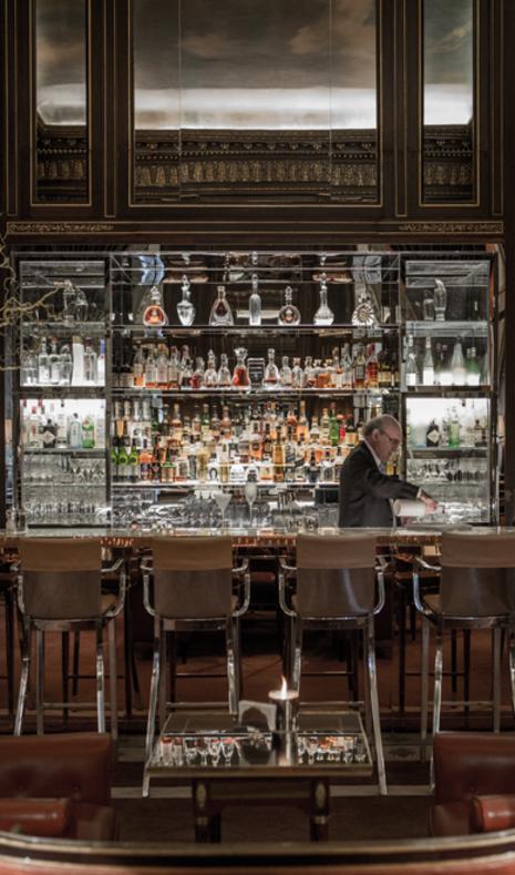 The bar at Le Meurice, Paris.