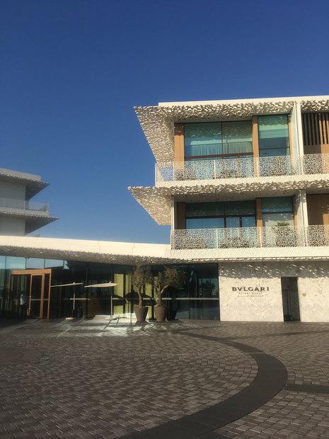 Bvlgari Resort Dubai, exterior with brise soleil